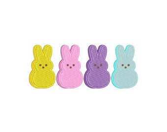 Marshmallow Bunny Peeps - Machine Embroidery Design