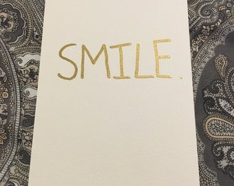Smile: Original, One-of-a-Kind Greetings Postcard