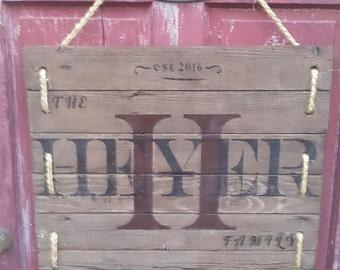 Custom Made Rustic Door Sign