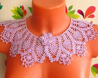 Воротник крючком Очарование Crochet Collar