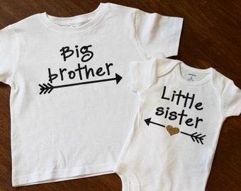 Big Brother shirt, little sister shirt, Big Sister Little brother shirt set. Big Brother, Little Sister, Big Brother, Little Sister