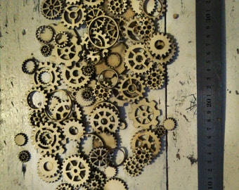 SteamPunk Gears, Craft Gears, Cheap Wood Gears, Laser Cut