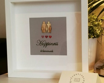 Personalised happiness is homemade family gift frame!