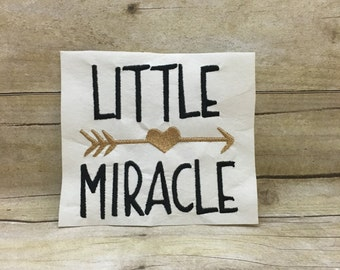 Little Miracle Embroidery Design, Little Miracle Design