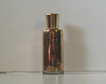 Vintage MARY CHESS Glass Covered Metal Perfume Bottle