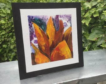 Small Original Abstract Sunflower Painting