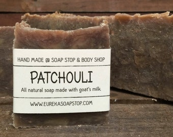 Handmade All Natural Hot Process Patchouli Soap - One Bar