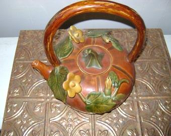 Vintage Woodsy Rustic Teapot