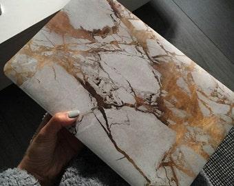 "Macbook Gold Marble Decal - Macbook Pro 13"""