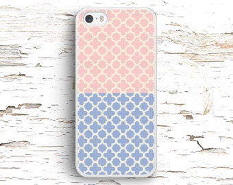 Pink and Blue Ornament Case, iPhone 7 6S 6 SE 5S 5 5C 4S, Samsung Galaxy S6 Edge S5 S4 S3, LG G4 G3, Sony Xperia Z5 Z3, HTC One M8