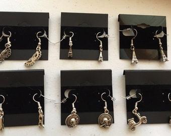 Travel Theme Earrings