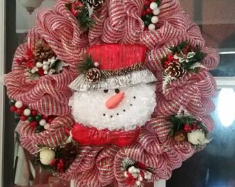 Snowman, winter, christmas
