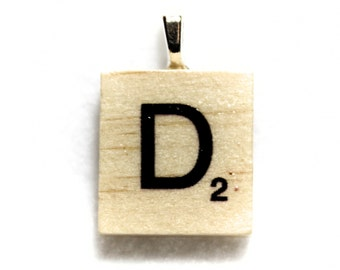 Scrabble Tile Hand Made Necklace Pendant! Choose Any Letter Scrabble Tile Pendant!