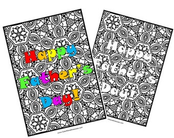 "Coloring Page for Father's Day ""Happy Father's Day!"""