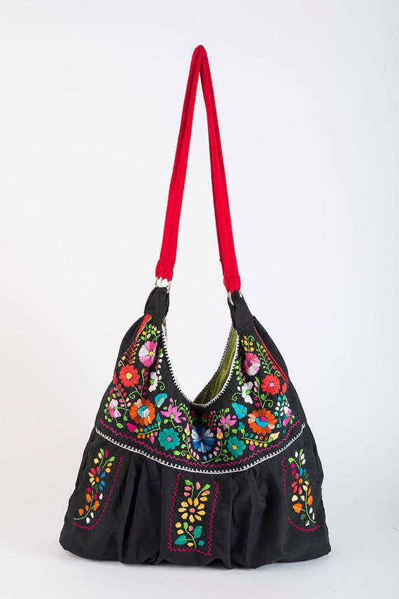 Mexican bag embroidered puebla by