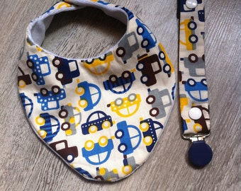 All bib and pacifier in fabric