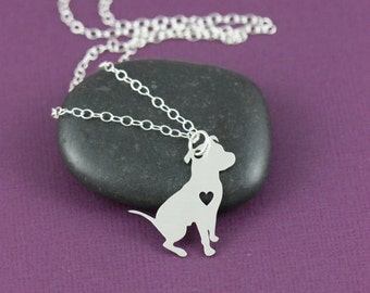 Pitbull Puppy Terrier  Dog Pendant Necklace