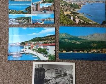 Yugoslavia vintage postcards, 5 Yugoslavian postcards from 1950s & 1970s, Belgrade, Slovenia, old postcards collection