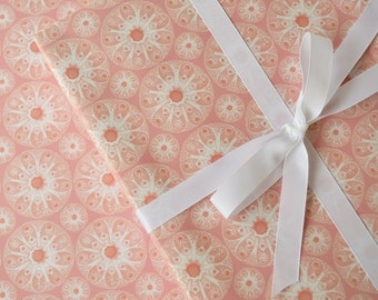 Wrapping Paper Pink Sea // Gift Wrap, Paper, Nautical, Seashell, Ocean, Pink