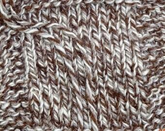 """Tri Color Wool Yarn  """"Tweed Sheep"""" 250 yd skein"""