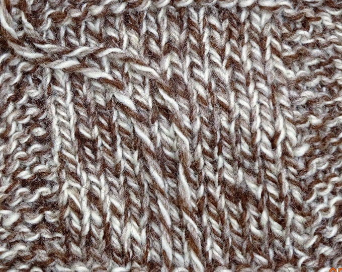 TWEED SHEEP undyed natural color soft  Merino wool yarn worsted 3 ply 250 yd skein from our American farm