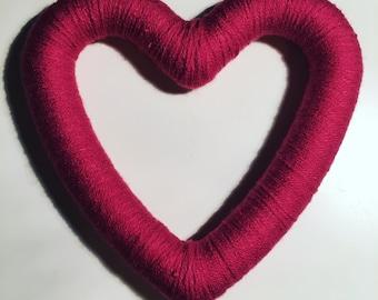 Decorative wool heart