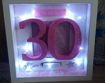 Birthday lightbox frame