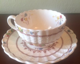Vintage Copeland Spode Cowslip Teacup and Saucer
