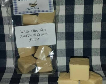 White chocolate and Irish cream fudge