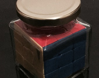 Impossible Bottle #8 - Stickerless Rubik's Cube in Square Jar