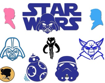 Star Wars svg , Star Wars silhouette, Star Wars design Svg, (zipped .eps .pdf .dxf .svg and .studio file) vector cutting files