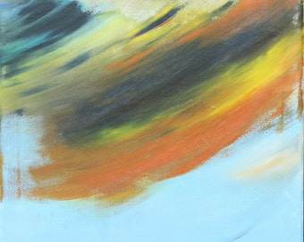 """Abstract Acrylic Canvas Painting, SWITCH 20"""" x 16"""" x 0.75"""""""