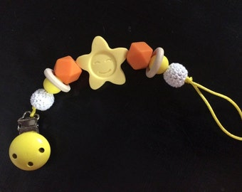 Clip pacifier teether bead