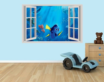Finding Dory 3D Effect Graphic Wall Vinyl Sticker Decal