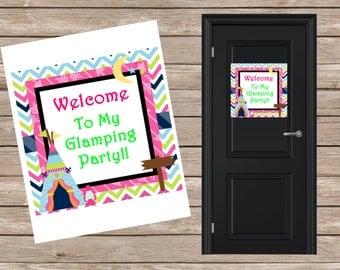 Glamping Digital Door Sign
