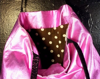 Metallic pink bag