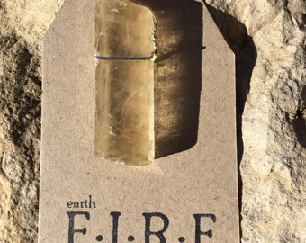 Gold (Honey) Calcite Wrapped Pendant