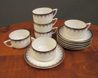 Hutschenreuther China demitasse cups and saucers