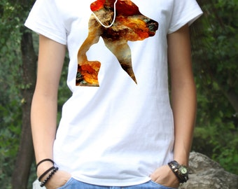 Women's T-Shirt for Pet Lover - Art Tee - Fashion Tee - White shirt - Printed shirt - Women's Tee