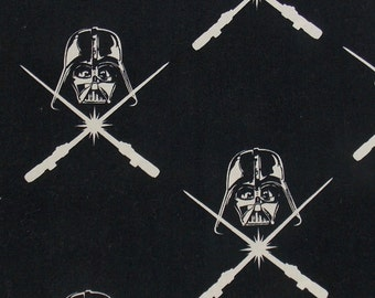 Darth Vader Fabric BTY BTHY Star Wars Glow in the Dark Fabric  Movie Fabric  Star Wars Quilt Fabric Cotton Fabric Pillow Fabric