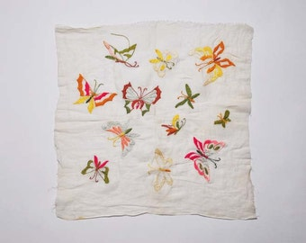 HANDMADE butterfly EMBROIDERY SAMPLER