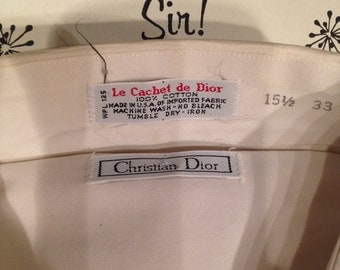 Vintage Christian Dior Mens dress shirt