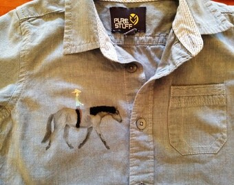 Shirt with Cowboy and Horse, Size 24 months