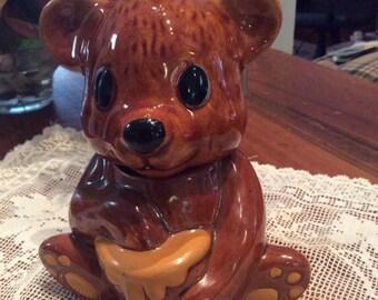 Teddy Bear 2 Piece Honey Pot