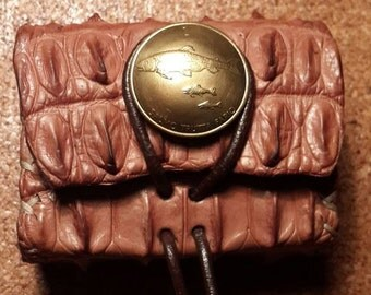 Crocodile box coin purse