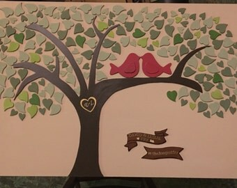 Guest Book Alternative (Tree of Hearts)