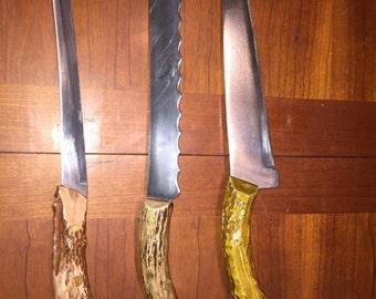 Deer antler knife