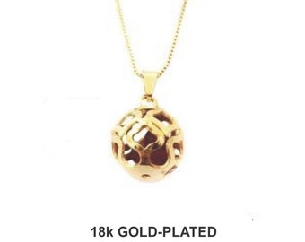 HeartBall Necklace - 18k Gold Plated