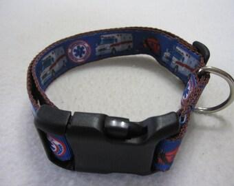 Ambulance dog collar (med)
