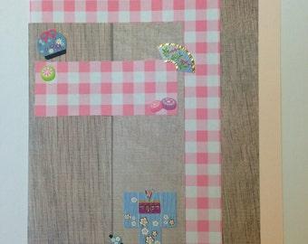 Kimono Card (pink)